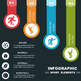 Sports infographics banners. Stock Photos