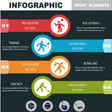 Sports infographics banners. Royalty Free Stock Photos