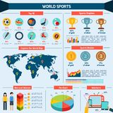 Sports Infographics Set Stock Photo