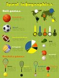Sports Infographics Set Stock Photo