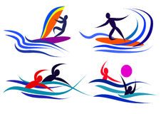 Sports infographics 1. Infographics on the topic of sports, water sports, athletes image Stock Image