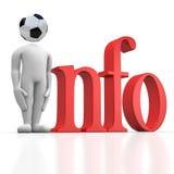 Sports Informationen lizenzfreie abbildung
