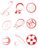 Sports items Stock Photography