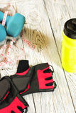 Sports items. Royalty Free Stock Photography