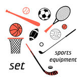 Sports items set Stock Photo