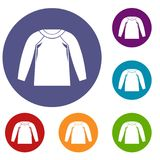 Sports jacket, icons set Stock Photo
