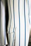 Sports Jacket. White & Blue Pinstriped Sports Jacket Royalty Free Stock Images