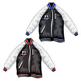 Sports jackets for teenagers, vector clothing. Sports jackets for teenagers in different colors, vector clothing royalty free illustration