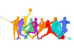 Sports, jeux et athlètes illustration libre de droits
