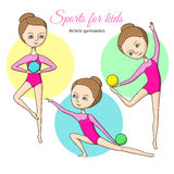 Sports for kids. Artistic gymnastics Stock Image