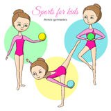 Sports for kids. Artistic gymnastics Stock Images