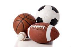 Sports Kugel auf Weiß Lizenzfreie Stockbilder