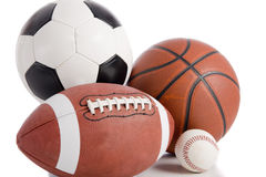 Sports Kugel auf Weiß Lizenzfreie Stockfotos
