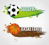 Sports labels stock illustration