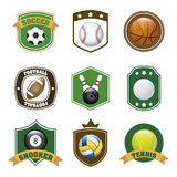 Sports labels. Over white background vector illustration Stock Photography