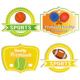 Sports labels Royalty Free Stock Images