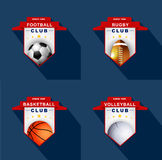Sports labels, badge, emblem Royalty Free Stock Image