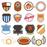 Sports labels. Large set of high quality sports labels Royalty Free Stock Photos