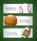 Sports labels. Over green background vector illustration Royalty Free Stock Photography