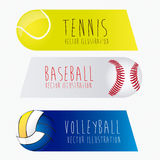 Sports labels,. Sports labels over white background vector illustration Royalty Free Stock Images