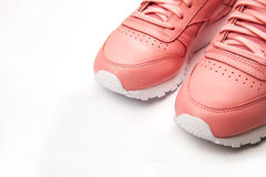 Free Sports Leather Sneakers. Free Style. Classic. Fashion. Pink Royalty Free Stock Image - 90475456
