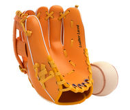 Sports and leisure: baseball glove and ball Stock Images
