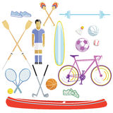 Sports and leisure illustration. Collection isolated Stock Image