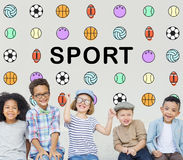 Sports Letters Balls Graphic Concept Royalty Free Stock Photography