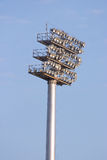 Sports lights. Lights at a sports stadium in Qatar royalty free stock photos