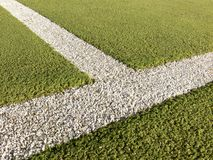 Sports Lines. White lines on sports field Stock Images