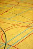 Sports lines. Lines on the floor of a sports hall Stock Images