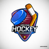 Sports logos for hockey. Royalty Free Stock Images