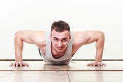 Sports man making pushups, Royalty Free Stock Image