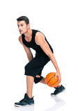 Sports man playing in basketball Royalty Free Stock Photo