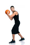 Sports man playing in basketball Royalty Free Stock Image