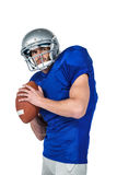 Sports manto throwing the ball Royalty Free Stock Photos