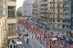 Sports marathon in Barcelona Royalty Free Stock Photo