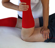 Sports Massage Technique on Hamstring Royalty Free Stock Images