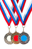 Sports medals Royalty Free Stock Photos