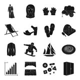 Sports, medicine, atelier and other web icon in black style. Stock Image