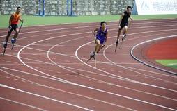 Sports meet,high leg games,Stilt games Royalty Free Stock Images