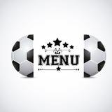 Sports menu Royalty Free Stock Image