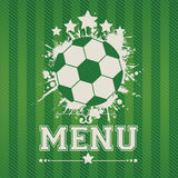 Sports menu Royalty Free Stock Photography