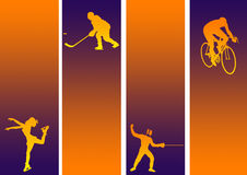 Sports mix royalty free illustration