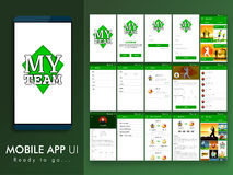 Sports Mobile App UI, UX and GUI template. Stock Photography