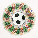 Sports and money Royalty Free Stock Images