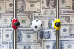 Sports and money Royalty Free Stock Photos