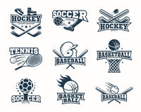 Sports Monochrome Logos Stock Photo