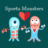 Sports monsters Royalty Free Stock Photos