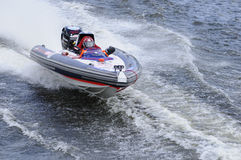Sports motorboat. World Championship Endurance Pneumatics Class 1/2/3/4/5 24 hours St.-Petersburg July, 5-6th 2008 Stock Images